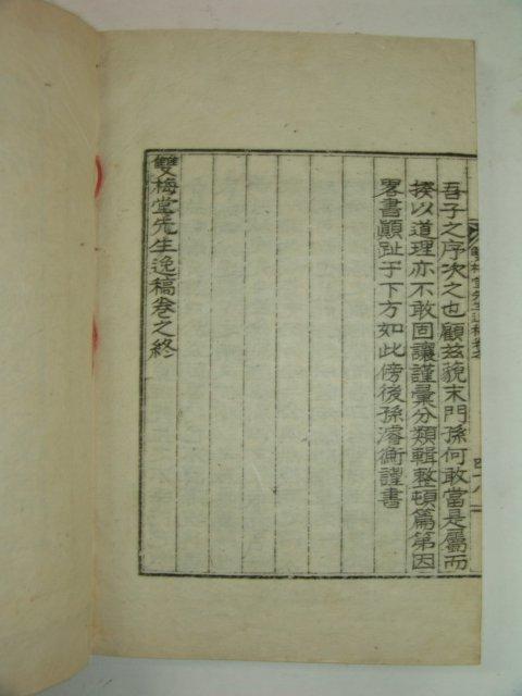 1937년 안동간행 이윤(李胤) 쌍매당선생일고(雙梅堂先生逸稿)2권1책완질