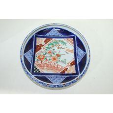 100년이상된 고이마리 청화백자진사화문 수완