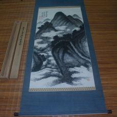37-수묵산수화 그림 족자