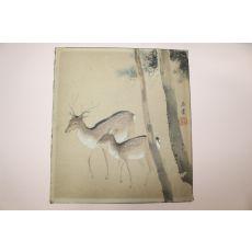 연대가좋은 사슴그림 인쇄판화