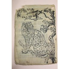 조선시대 목판 까치호랑이 그림