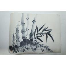 수묵화 대나무 그림